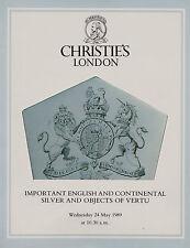 Importante Inglese & CONTINENTALE ARGENTO e oggetti di Vertu catalogo d'asta