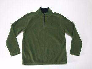 Old Navy Active Boys Sweatshirt Size Medium M (8) Green Long Sleeve 1/4 Zip