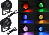 2 x 86 LED RGB Stage Lights Par Disco Party Pub DJ DMX-512 Laser Projector Light