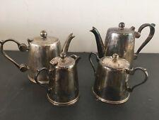 Service 4 pièces Thé/Café en métal argenté à nettoyer B5OB