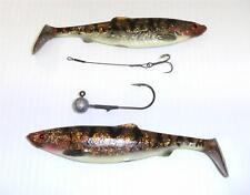 SAVAGE Gear aringhe ALOSA JIG HEAD + Stinger esca da Pesca 16cm 28g Marrone burbout