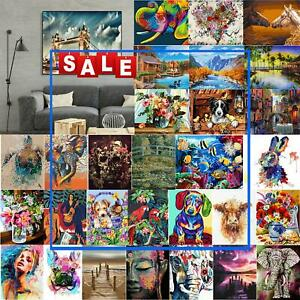 Painting By Numbers Kit DIYWall Decor Canvas Oil Art Picture for Home Room Decor