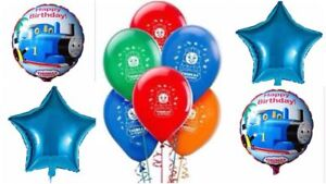 "New 12 & 18"" Thomas The Tank Engine Blue Latex/Foil Balloons Party Decor."