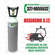 Bombola Ossigeno 5 Litri, nuova, completa di carica.