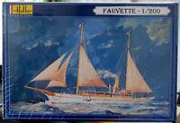 1893 Dampf Segelschiff Yacht Fauvette 1:200 Heller 80612 wieder neu 2018
