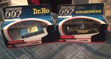 2 corgi james bond movie cars mint boxed