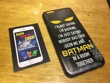 COVER Custodia RIGIDA Slim BATMAN WORD DC COMICS iPHONE 6 6s 4.7 + Pellicola