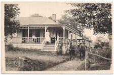 Real Photo Postcard RPPC Family House Porch Horse Erie County Pennsylvania 1912