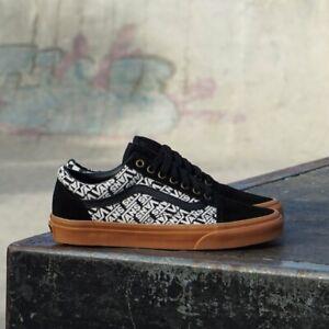 Vans Old Skool Vans Jacquard Black/Turtledove Men's Classic Skate Shoes Size 10