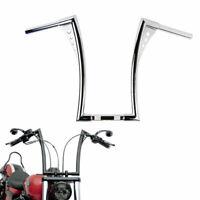 """Custom Ape Hangers Bars 14"""" Rise Poignées De Guidon Pour Harley Sportster FXST"""
