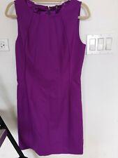 Elie Tahari Rosalee Sheath Dress 10 NWT Purple Sparkleberry wool blend