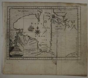 HUDSON BAY CANADA 1722 BACQUEVILLE DE LA POTHERIE UNUSUAL ANTIQUE MAO