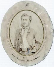 Salzpapier-Photographie,Studenten-Portrait, KStV Bavaria (Freiburg) um 1880.
