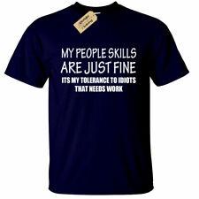 5b29a304c PEOPLE SKILLS Funny Mens T-Shirt sarcastic gift sarcasm humour joke tee