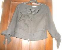 anne Fontaine Paris ~ Art to Wear ~ Lagenlook ~ Alena Black Bow Tweed Jacket 44