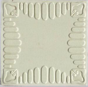 Original c1900 Germany Villeroy & Boch high relief Art Nouveau tile Gray & white