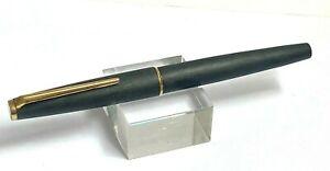Vintage Montblanc 220 14K 585 Gold Nib Black Brushed Fountain Pen