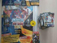 Match Attax 101 2020 100+ cards inc foils + starter pack MINT