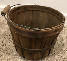 "Vintage Small Apple Basket  8.5"" diameter 6.75"" deep"