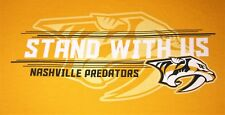 Nashville Predators XL gold t-SHIRT Stand With Us Smashville Tennessee NHL promo
