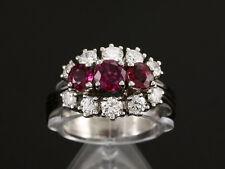 Klassischer Rubin Brillant Ring ca. 2,20ct  585 /- Weißgold