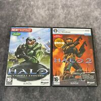 Halo 1 Combat Evolved & 2 PC Game Bundle Bungie Microsoft Shooters