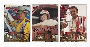 1994 High Gear LEGENDS Complete 3 card Series 1 set BV$10! 3 True Legends!