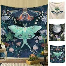 Fairytale Giant Insect Moon Tapestry Wall Hanging Living Bedroom Dorm Room T7D9