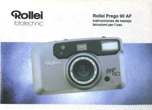 Rollei Prego 90 AF Instruction Manual (Spanish, Italian)