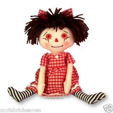 """10"""" Rag Doll Independent Design Fabric Sewing PATTERN Soft Toy Easy Instruction"""