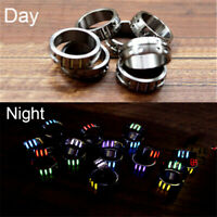 EDC Tritium Gas Tube Rings TC4 Titanium Self-Illumination Light Pendant Rings