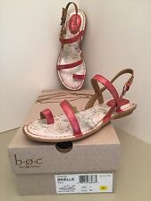 Born-BOC Brielle Red Toe Loop Slingback Flat Sandals Size 7M *NEE