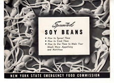 Sprouted Soy Beans NYS Emergency Food Commission Ithaca NY Local Cookbook WWII