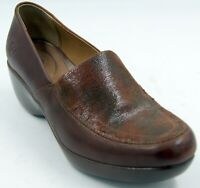 Ariat Clogs Brown Leather Wedge Heels Slip Ons Women's  Shoes Sz 9 M