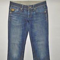 G-Star Midge Straight WMN 6021 W29 L32 blau Damen Designer Denim Jeans Hose VTG