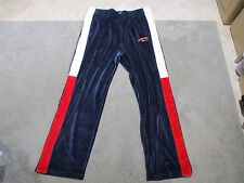 VINTAGE Tommy Hilfiger Velour Pants Adult Extra Large Blue Spell Out Warm Up 90s