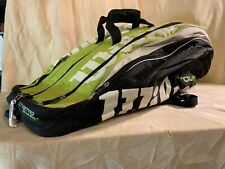 Wilson Tour Thermoguard Black/White/green Tennis Racquet Bag Backpack 3 Slots