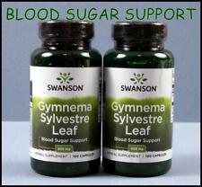 2 Bottles Swanson GYMNEMA SYLVESTRE LEAF 400mg 200 Caps Sugar Glucose Metabolism