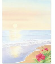 100 Home Printer Summer Luau Paper Theme Paper Letter Size Sunset Party Beach