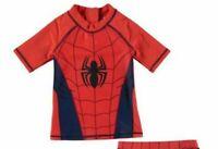 Official Marvel Spiderman Boys Swim Top Junior NAVY RED 3-4 YRS B221-8