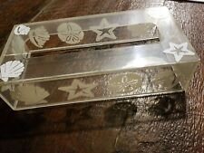 Vintage Clear Tissue Box Cover Shells ~ Acrylic Plastic Holder