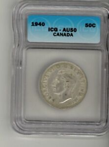 1940 – CANADA – 0.50¢ (Fifty Cents) – ICG AU50