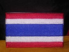 Thailand Flag Embroidered Patch Iron-on Good Luck Magic Charm