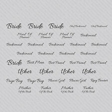 SKU1198 - Same Sex Womens Wedding Vinyl Coat Hanger Role Sticker Stickers Decals