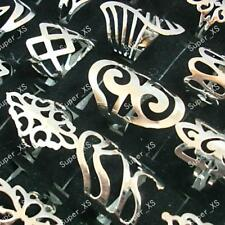 5pcs silver style iron alloy rings wholesale Fashion mixed lots free shipping