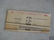 Vintage Oo Scale Boxcar Cardboard Sides Dry Ice Car