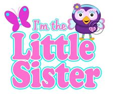 IRON ON TRANSFER 1 x LITTLE SISTER HOOT OWL BUTTERFLY 15x13cm hootabelle