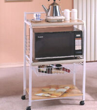 Brand New 40'H Classic Conveniency Kitchen Serving Cart in White Color - Asdi