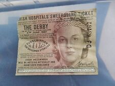 """THE DERBY EPSOM   horse racing  1947  """"the winning ticket ??"""""""