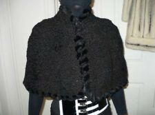 New fabulous designer 1300$ by Neiman Marcus Black Karakul Persian Lamb Fur Cape